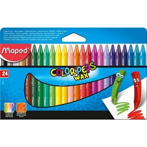 Maped Pack of 24 wax pencils