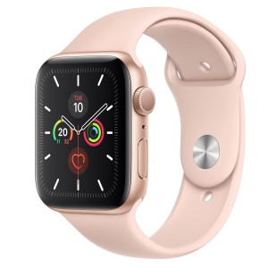 Apple Watch Series 5 GPS 44mm Gold Aluminum with Pink Sports Strap