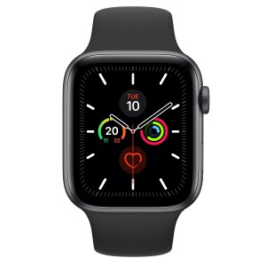Apple Watch Series 5 GPS 44mm Space Gray with Black Belt Sport