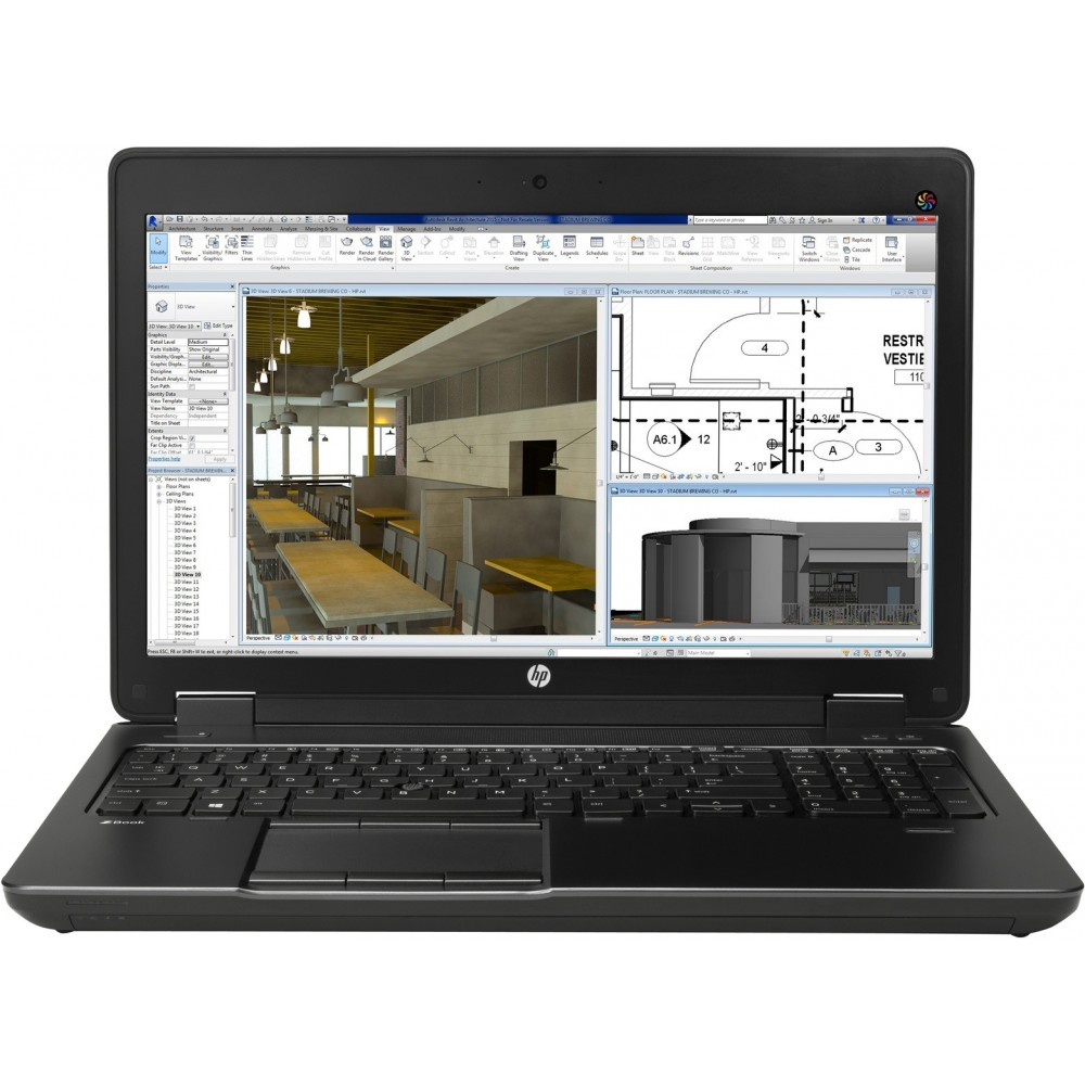HP ZBook 15 i7-4710MQ G2 8 Go 1 To Quadro K1100M 15.6 FHD Reconditionné