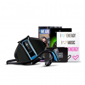 Energy Sistem MP3 Courir Neon Blue 8 Go Remis à neuf
