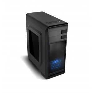 ATX Modus NOX   Micro ATX Mid-Tower Blue Edition Remis à neuf